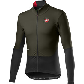 Castelli Nano Mid Wind LS Jersey Men military green/light black